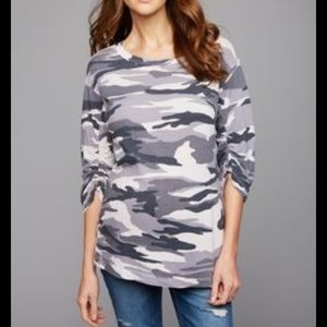 Splendid Maternity Camo Sweatshirt